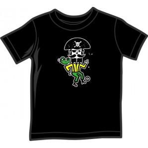 Kids Shirt 'CHema Skandal! - Treasure Isle Pirate' black, 5 sizes