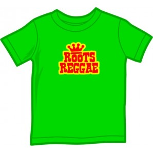 Kids Shirt 'Roots Reggae' kelly green, 5 sizes
