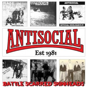 Antisocial 'Battle Scarred Skinheads'  LP