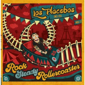 Los Placebos 'Rocksteady Rollercoaster'  LP+MP3  ltd. turquois vinyl