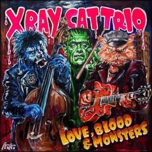X-Ray Cat Trio 'Love, Blood & Monsters  LP black vinyl