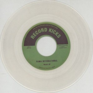 "Pama International 'Wake Up' + 'I Cried Till I Stopped' 7"" clear vinyl"