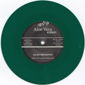 "Giulio Neri & The Officinalis 'Salad Breakfast' + Andrea & The Officinalis 'Sunset in Capri' 7"" green vinyl"