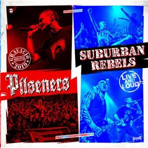 Pilseners / Suburban Rebels 'Live And Loud' LP white vinyl