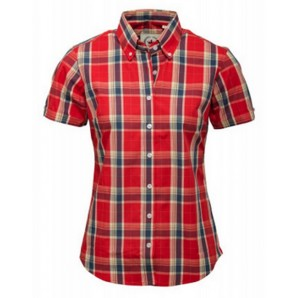 Relco Ladies burnt orange Check Shirt LSS 14, sizes 10/S - 14/L