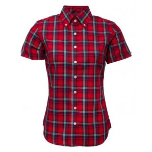 Relco Ladies Check shirt LSS 16 - red, sizes 10/S - 16/XL