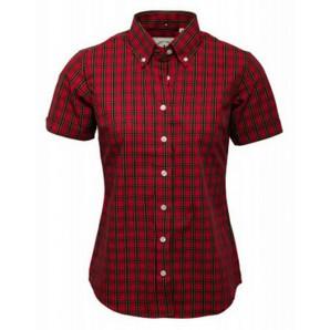Relco Ladies red tartan shirt LSS TTN 01, sizes 10/S - 14/L