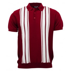 Relco Mens Knitted polo shirt - burgundy, sizes M, L, XL