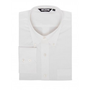 Relco Button Down Long Sleeved Shirt 'Oxford weave' white, sizes S - 3XL