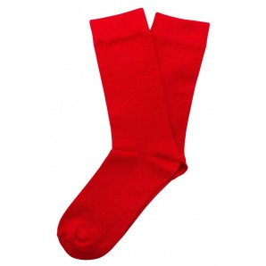 Relco Plain Socks red - one size fits all