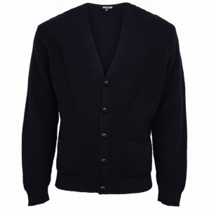 Relco Waffle Cardigan navy, sizes M - XL