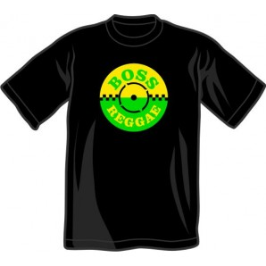 T-Shirt 'Boss Reggae' black, all sizes