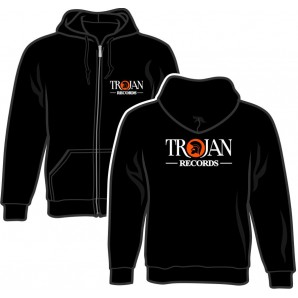 Zipper Jacket 'Trojan Records' black, sizes S - 2XL