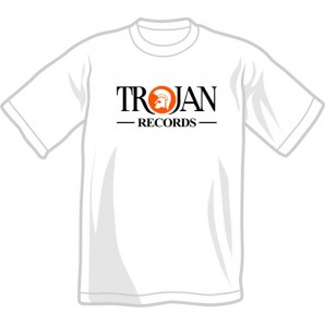 T-Shirt 'Trojan Records' white, sizes S, XXL