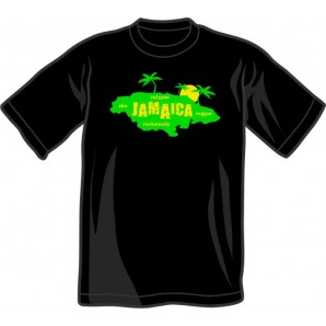 T-Shirt 'Jamaica Island' black all sizes