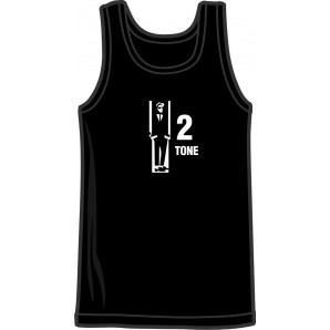 Tanktop '2 Tone' black - sizes S - 3XL