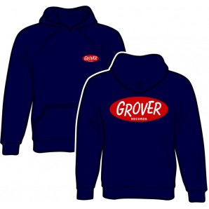 e6caf27ef hooded jumper 'Grover Records navy' size S - Moskito Mailorder
