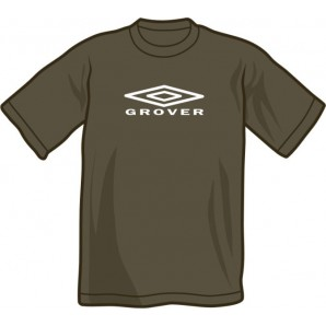 T-Shirt 'Grover Records' dar grey, all sizes