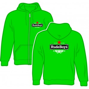 Zipper Jacket 'Rude Boys - Stay Rude Stay Rebel' kellygreen, sizes S - 2XL
