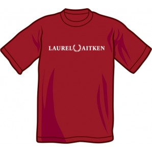 T-Shirt 'Laurel Aitken' flock burgundy, sizes S - XXL