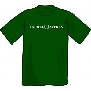 T-Shirt 'Laurel Aitken' flock bottlegreen, sizes S - XXL