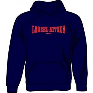 hooded jumper 'Laurel Aitken dark blue' all sizes