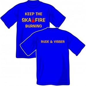 T-Shirt 'Rude & Visser - Keep The Fire - size small'