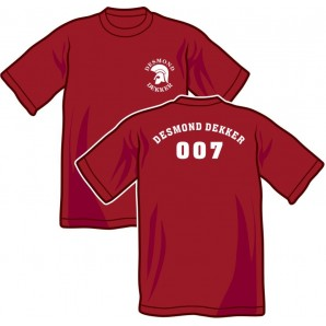 T-Shirt 'Desmond Dekker - 007' all sizes burgundy
