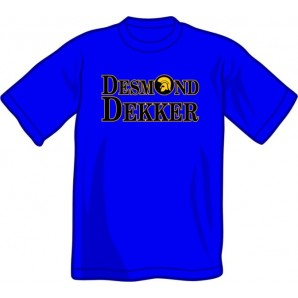 T-Shirt 'Desmond Dekker' royal blue, sizes S - XXL