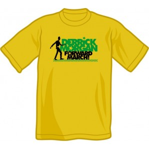 T-Shirt 'Derrick Morgan - Forward March' vintage yellow, all sizes