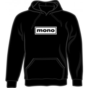 hooded jumper 'Mono' black, all sizes
