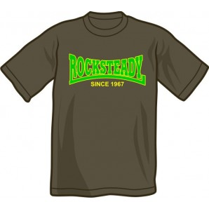 T-Shirt 'Rocksteady - Since 1967' dark grey, all sizes