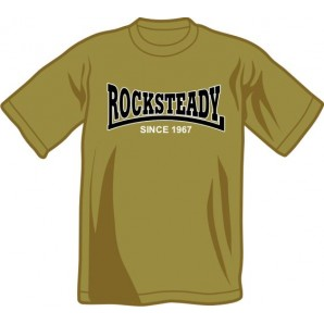 T-Shirt 'Rocksteady - Since 1967' olive, all sizes