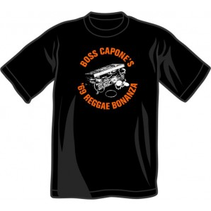 T-Shirt 'Boss Capone - '69 Reggae Bonanza' black - sizes S - 3XL