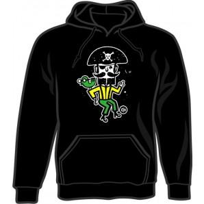 hooded jumper 'CHema Skandal! - Treasure Isle Pirate' black, all sizes