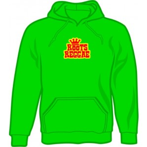 hooded jumper 'Roots Reggae' kelly green, all sizes
