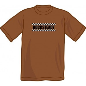 T-Shirt 'Rocksteady' chestnut brown - sizes S - XXL