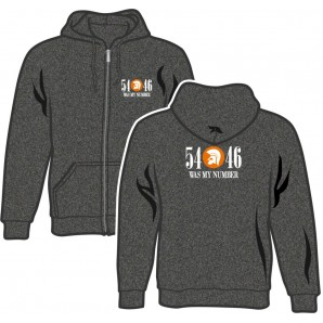 Zipper Jacket '54 - 46 Was My Number' dark heather grey, sizes S - 2XL