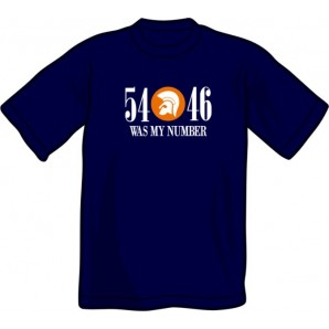 T-Shirt '54 - 46 Was My Number' navy - size S - 3XL