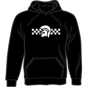 hooded jumper 'Trojan 2 Tone' black - sizes S - 3XL
