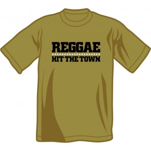 T-Shirt 'Reggae Hit The Town' olive green - sizes S - XXL