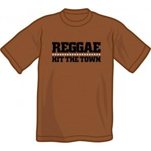 T-Shirt 'Reggae Hit The Town' chestnut brown - sizes S - XXL