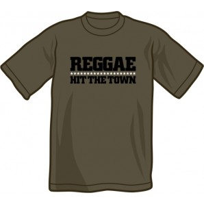 T-Shirt 'Reggae Hit The Town' dark grey - sizes S - XXL
