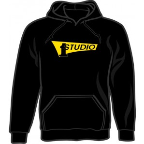 hooded jumper 'Studio One - Yellow Logo' black - sizes S - 3XL