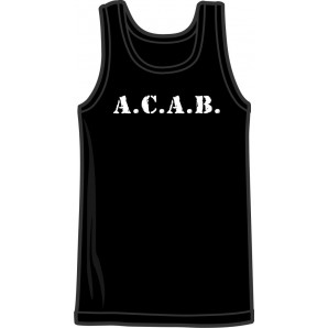 tanktop 'A.C.A.B.' sizes medium, large, XL