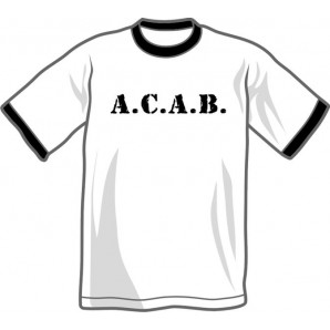 t-shirt 'A.C.A.B. - Ringer' all sizes