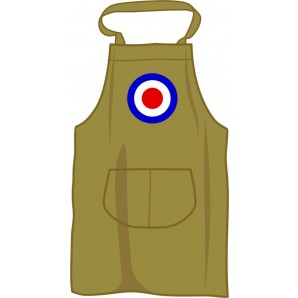 BBQ apron 'Mod Style Target', olive green