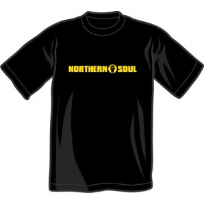 T-Shirt 'Northern Soul Yellow' black - sizes S - XL