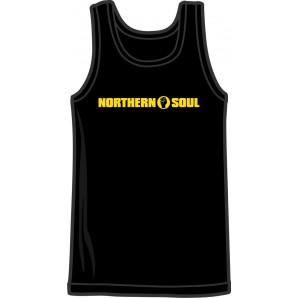 Tanktop 'Northern Soul Yellow' black - sizes S - 3XL
