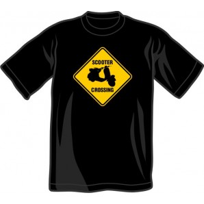 T-Shirt 'Scooter Crossing'  black all sizes